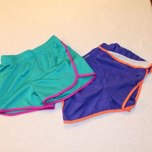Girls set of 2 running shorts  girls size 10